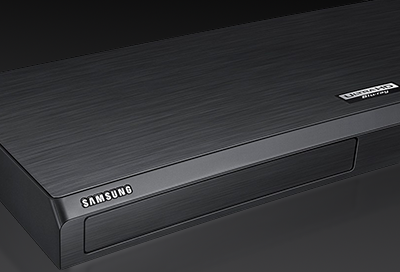 Closeup of a Samsung Blu-ray player