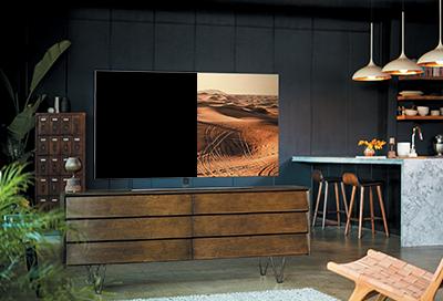 Half of the TV Screen is Black