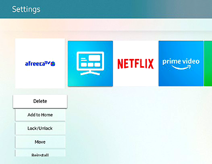 Manage Apps on Your Smart TV