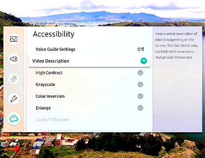 Turn on captions and other accessibility settings for your TV