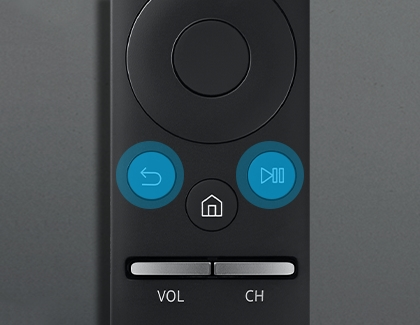 Press Return and Play/Pause on Samsung Smart Remote to connect to the TV