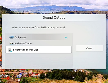 Connecting a soundbar with Bluetooth