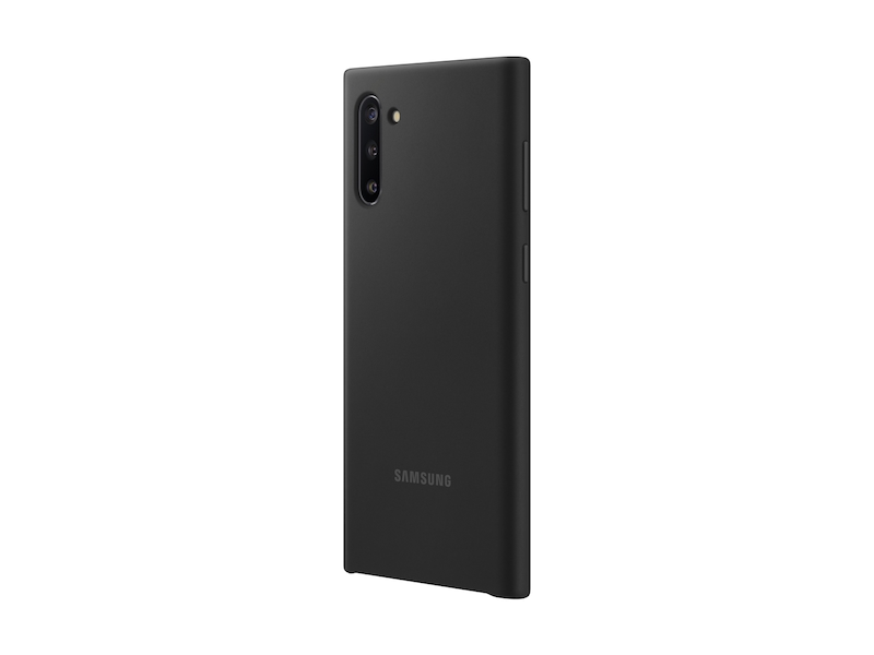 Larger View of Galaxy Note10 Silicone Cover, Black