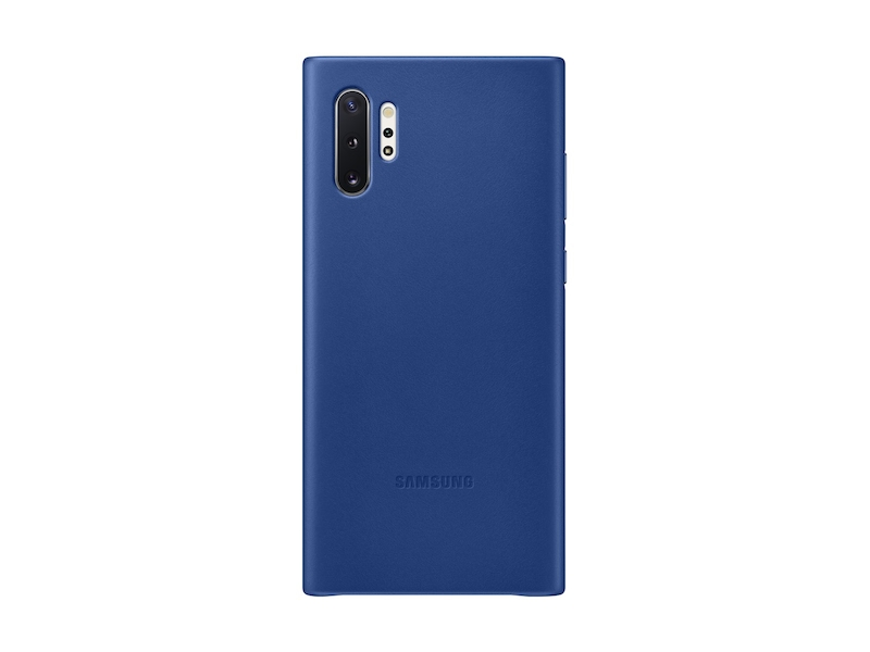 Galaxy Note10+ Leather Back Cover, Blue