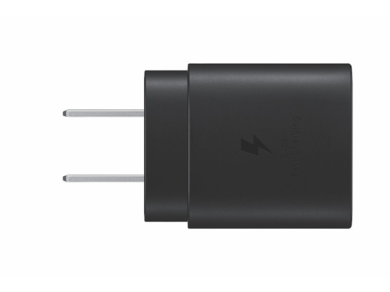 Larger View of 25W USB-C Fast Charging Wall Charger, Black