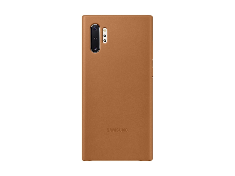 Galaxy Note10+ Leather Back Cover, Tan