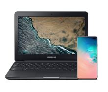 Buy an Unlocked Galaxy S10, get a<br>free Chromebook 3<sup>††</sup>