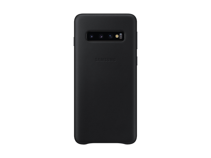 Galaxy S10 Leather Back Cover, Black