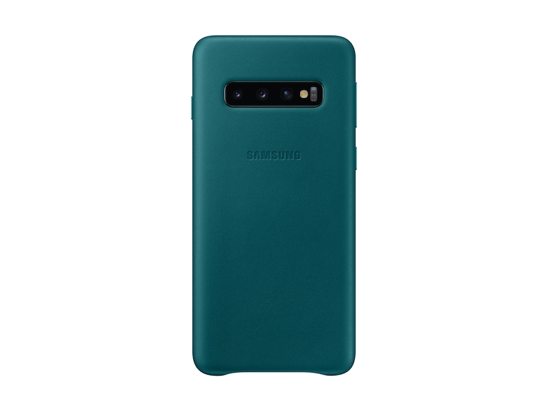 watch 6697e 37cde Galaxy S10 Leather Back Cover, Green
