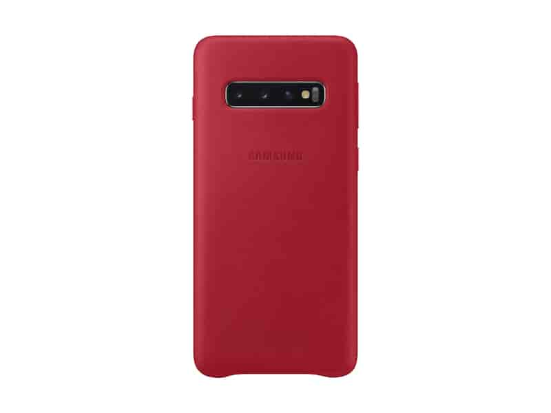 Galaxy S10 Leather Back Cover, Red