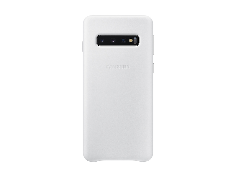 Galaxy S10 Leather Back Cover, White
