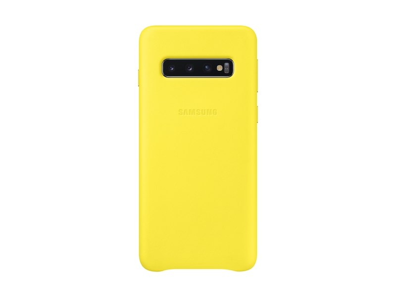 Galaxy S10 Leather Back Cover, Yellow