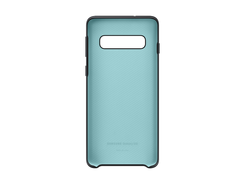 Larger View of Galaxy S10 Silicone Cover, Black