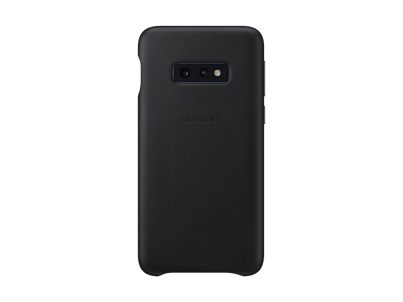 buy online f289d c029b Galaxy S10e Leather Back Cover, Black