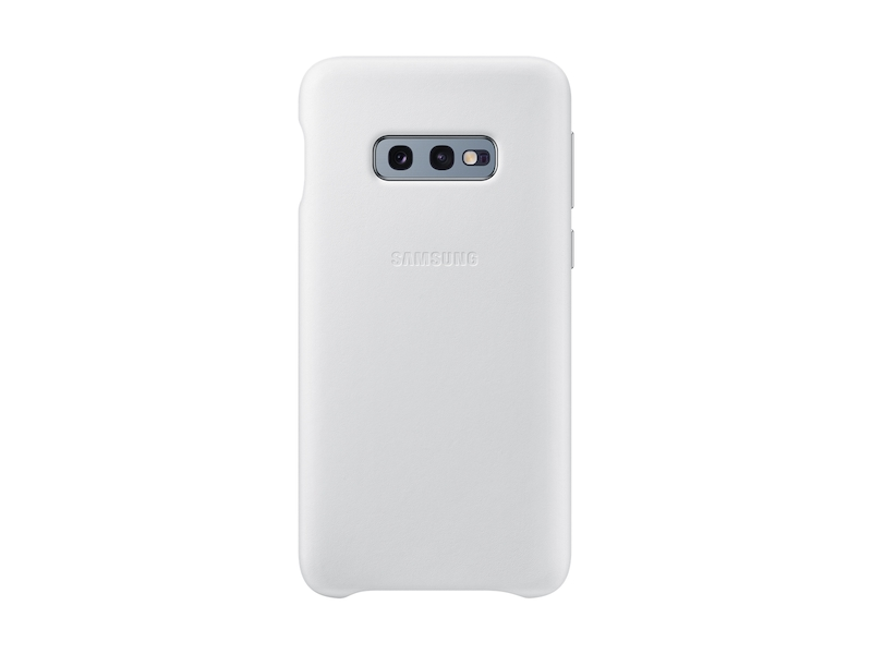 uk availability 908a5 64875 Galaxy S10e Leather Back Cover, White