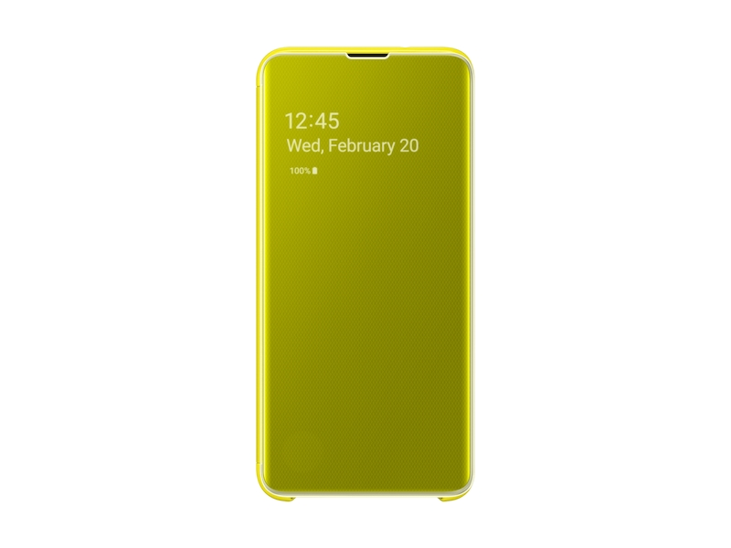 huge selection of d8dc4 acc8c Galaxy S10e S-View Flip Cover, Yellow