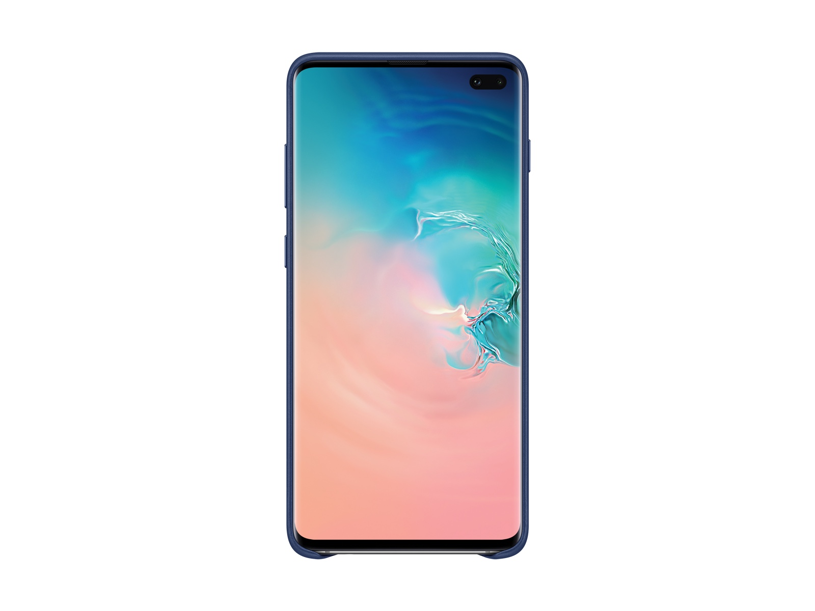 Galaxy S10+ Leather Back Cover, Navy