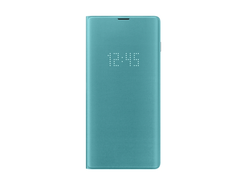 Galaxy S10+ LED Wallet Cover, Green
