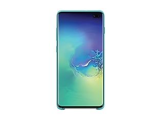 Galaxy S10+ Silicone Cover, Green