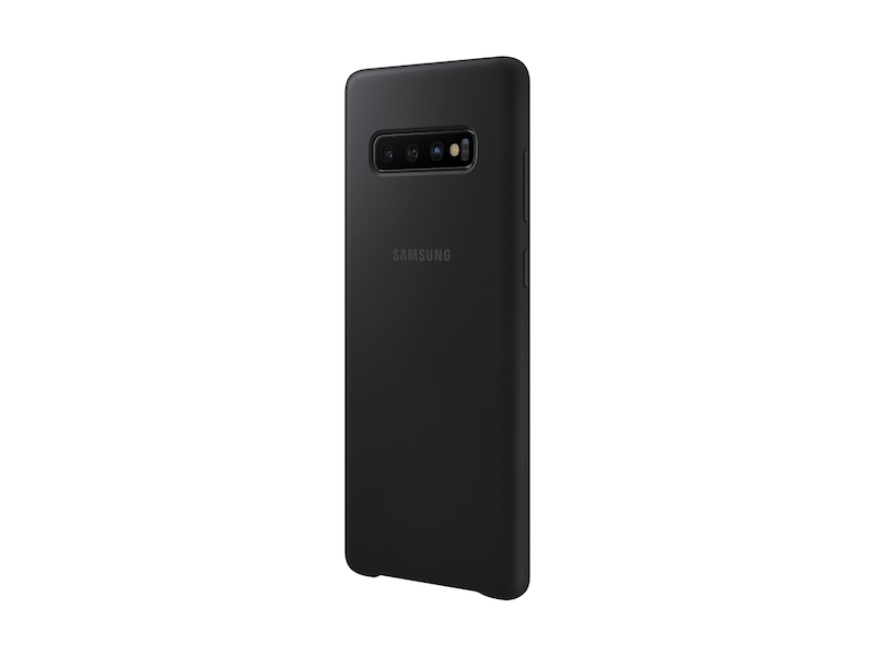 Larger View of Galaxy S10+ Silicone Cover, Black
