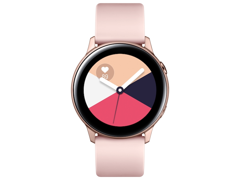4ed2dea98 Galaxy Watch Active (40mm), Rose Gold (Bluetooth) Wearables -  SM-R500NZDAXAR | Samsung US