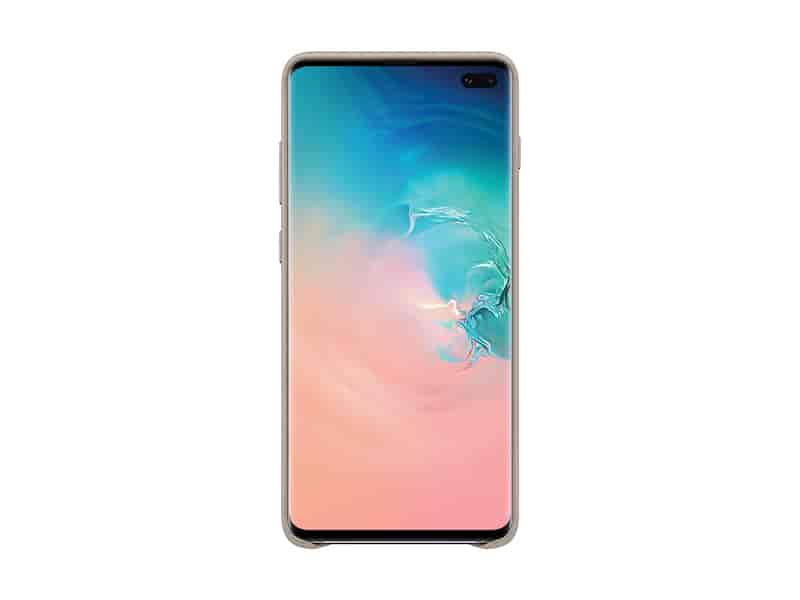 Galaxy S10+ Leather Back Cover, Gray