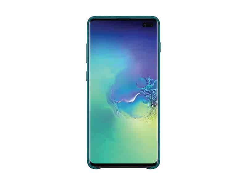 Galaxy S10+ Leather Back Cover, Green