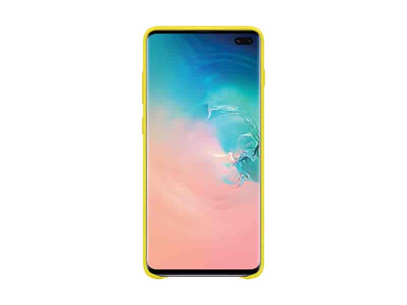 Galaxy S10+ Leather Back Cover, Yellow