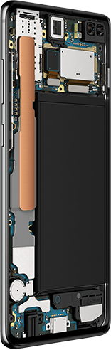 Samsung Galaxy S10 with Knox Security and Biometric Authentication - Internal Components and Security Features Breakdown
