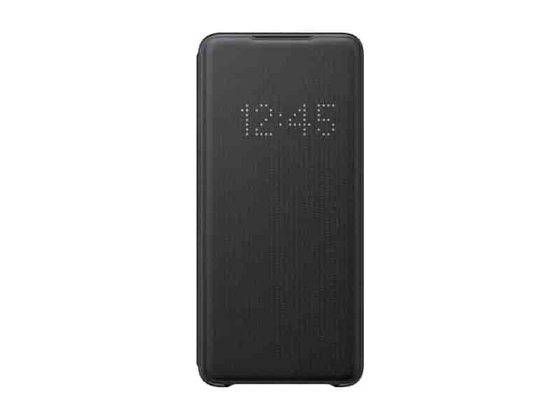 Galaxy S20+ 5G LED Wallet Cover, Black