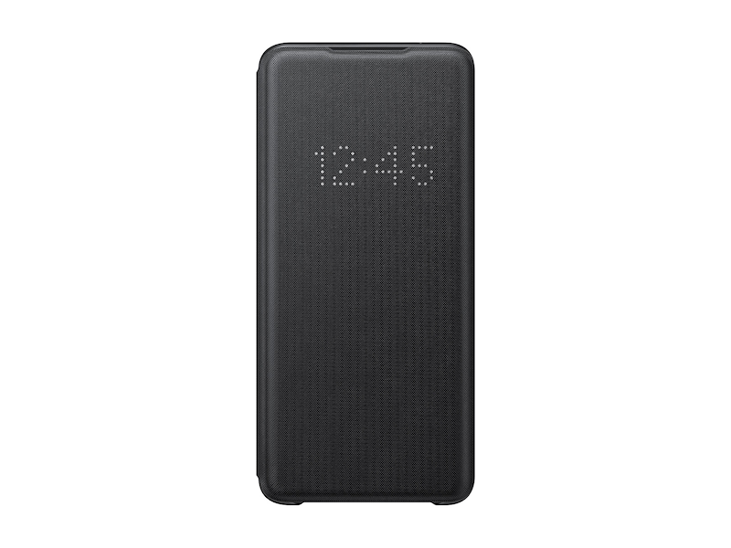 Galaxy S20 Ultra 5G LED Wallet Cover, Black