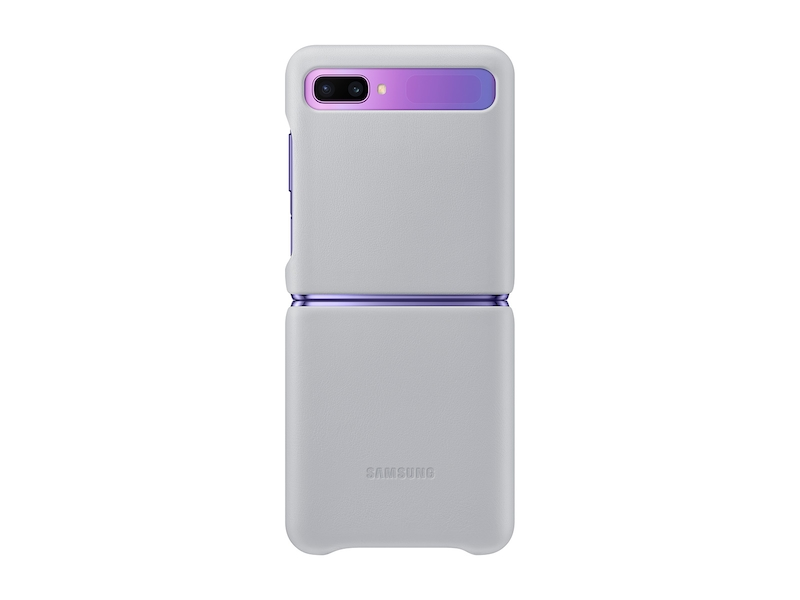 Galaxy Z Flip Leather Cover, Silver