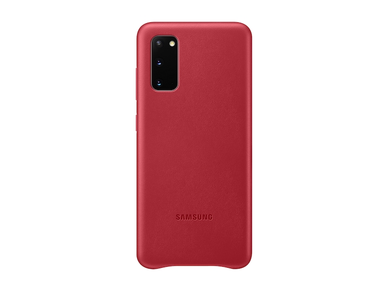 Galaxy S20 5G Leather Cover, Red