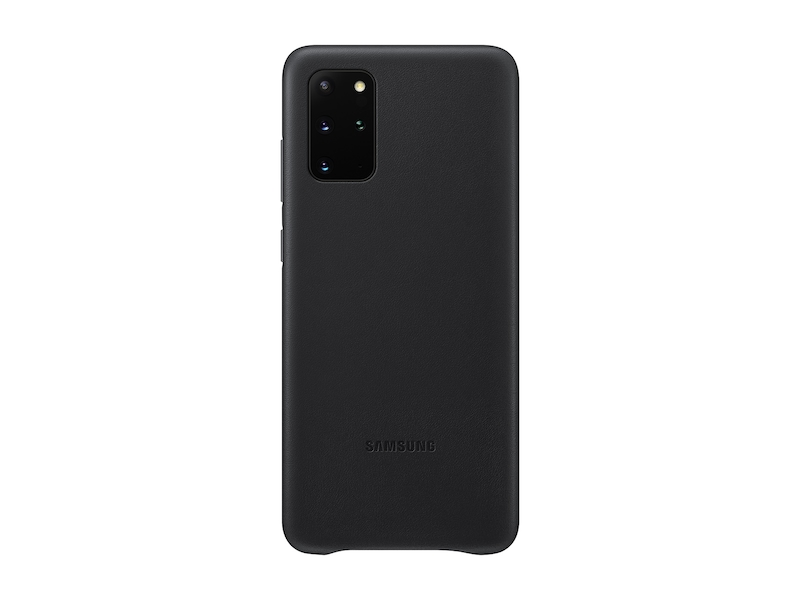 Galaxy S20+ 5G Leather Cover, Black