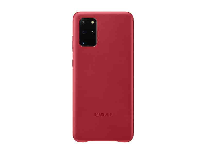 Galaxy S20+ 5G Leather Cover, Red