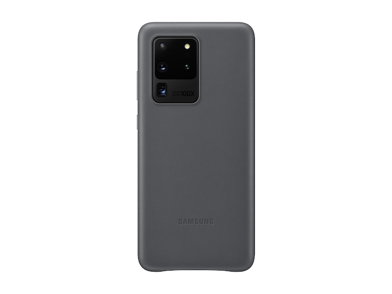 Galaxy S20 Ultra 5G Leather Cover, Gray