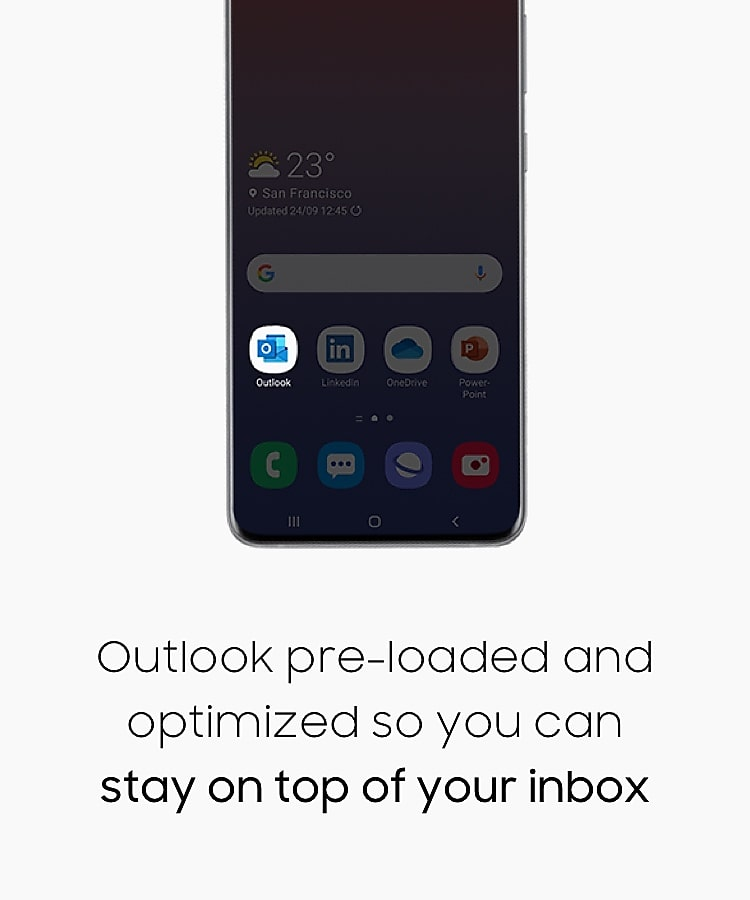 Outlook pre-loaded and optimized so you can stay on top of your inbox