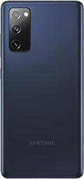 Galaxy S20 FE in Cloud Navy seen from the rear