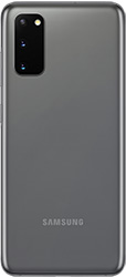Galaxy S20 in Cosmic Gray seen from the rear