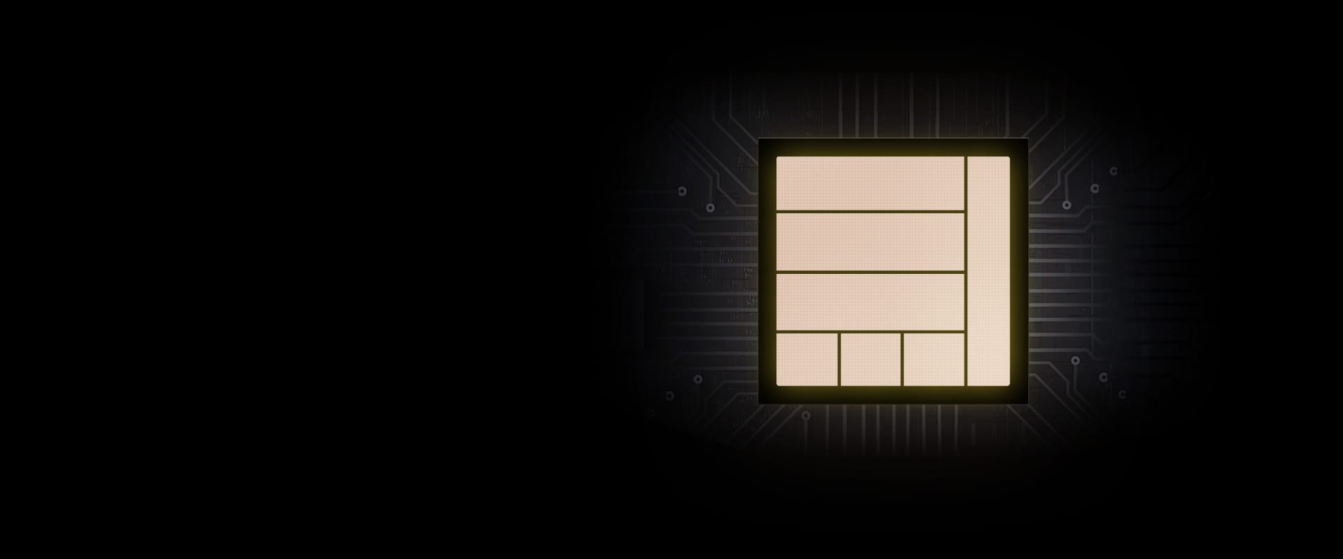 An illustration of a chip providing powerful performance to Galaxy S20 FE 5G.