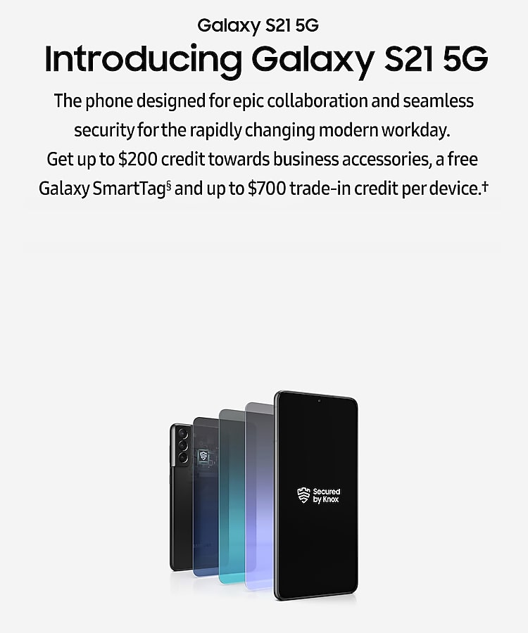 Galaxy S21 5G for business